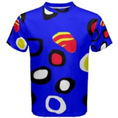 Blue pattern abstraction Men s Cotton Tee