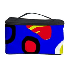 Blue pattern abstraction Cosmetic Storage Case