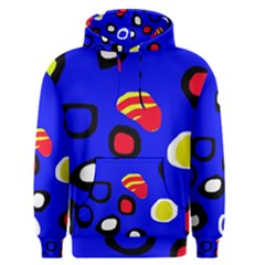 Blue pattern abstraction Men s Pullover Hoodie