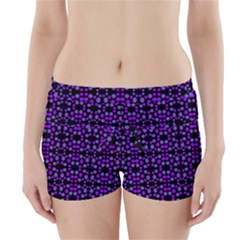 Dots Pattern Purple Boyleg Bikini Wrap Bottoms