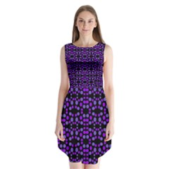 Dots Pattern Purple Sleeveless Chiffon Dress