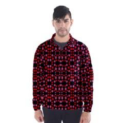 Dots Pattern Red Wind Breaker (Men)