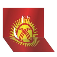 Flag Of Kyrgyzstan Apple 3D Greeting Card (7x5)