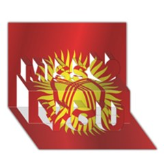Flag Of Kyrgyzstan Miss You 3D Greeting Card (7x5)