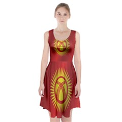 Flag Of Kyrgyzstan Racerback Midi Dress