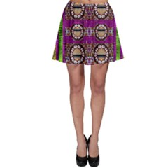 Rainbow Love For The Nature And Sunset In Calm And Steady State Skater Skirt