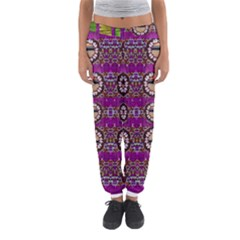 Rainbow Love For The Nature And Sunset In Calm And Steady State Women s Jogger Sweatpants