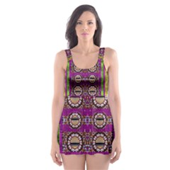 Rainbow Love For The Nature And Sunset In Calm And Steady State Skater Dress Swimsuit