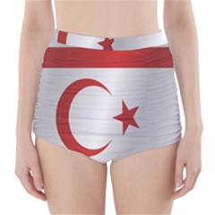 Flag Of Northern Cyprus High-Waisted Bikini Bottoms