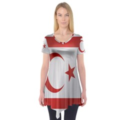 Flag Of Northern Cyprus Short Sleeve Tunic