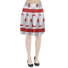 Flag Of Northern Cyprus Pleated Skirt