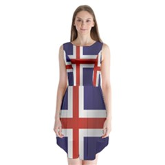 Flag Of Iceland Sleeveless Chiffon Dress