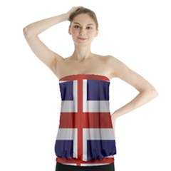 Flag Of Iceland Strapless Top
