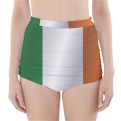 Flag Of Ireland High-Waisted Bikini Bottoms