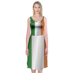 Flag Of Ireland Midi Sleeveless Dress