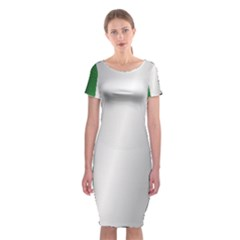 Flag Of Ireland Classic Short Sleeve Midi Dress