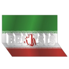 Flag Of Iran BEST SIS 3D Greeting Card (8x4)