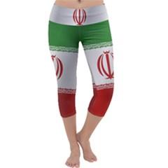 Flag Of Iran Capri Yoga Leggings