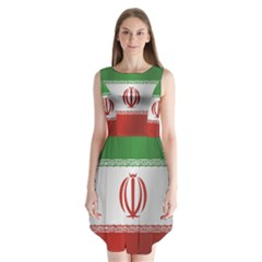 Flag Of Iran Sleeveless Chiffon Dress