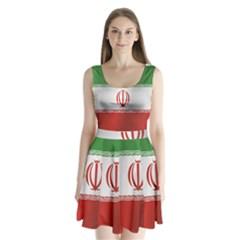 Flag Of Iran Split Back Mini Dress