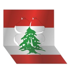 Flag Of Lebanon Clover 3D Greeting Card (7x5)
