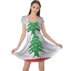 Flag Of Lebanon Cap Sleeve Dresses