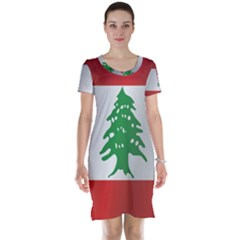 Flag Of Lebanon Short Sleeve Nightdress
