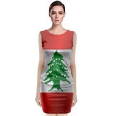 Flag Of Lebanon Classic Sleeveless Midi Dress