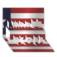 Flag Of Liberia Miss You 3D Greeting Card (7x5)