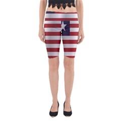 Flag Of Liberia Yoga Cropped Leggings