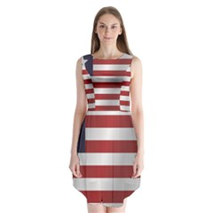 Flag Of Liberia Sleeveless Chiffon Dress