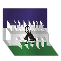 Flag Of Lesotho THANK YOU 3D Greeting Card (7x5)