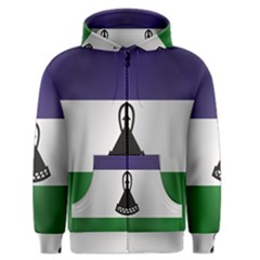 Flag Of Lesotho Men s Zipper Hoodie
