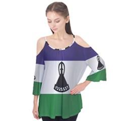 Flag Of Lesotho Flutter Tees