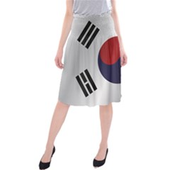 Flag Of South Korea Midi Beach Skirt
