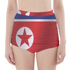 Flag Of North Korea High-Waisted Bikini Bottoms
