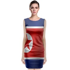 Flag Of North Korea Classic Sleeveless Midi Dress