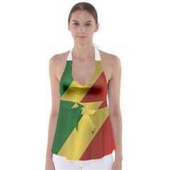 Flag Of Republic Of The Congo Babydoll Tankini Top