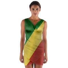 Flag Of Republic Of The Congo Wrap Front Bodycon Dress