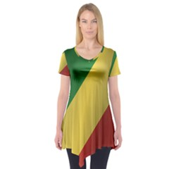 Flag Of Republic Of The Congo Short Sleeve Tunic
