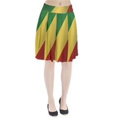 Flag Of Republic Of The Congo Pleated Skirt