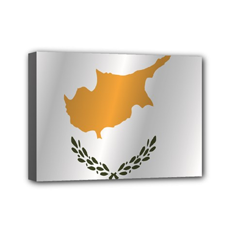 Flag Of Cyprus Mini Canvas 7  x 5