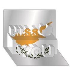 Flag Of Cyprus Miss You 3D Greeting Card (7x5)