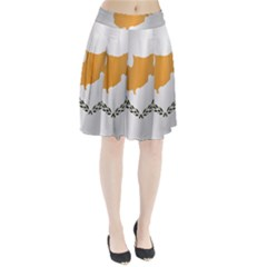 Flag Of Cyprus Pleated Skirt