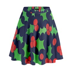 Holly Jolly Christmas High Waist Skirt