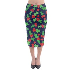 Holly Jolly Christmas Midi Pencil Skirt
