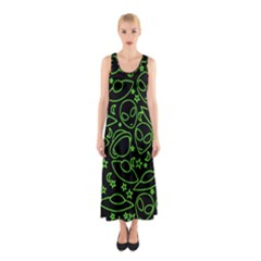 Alien Invasion  Sleeveless Maxi Dress