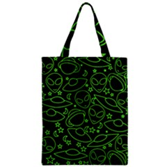 Alien Invasion  Zipper Classic Tote Bag