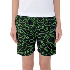 Alien Invasion  Women s Basketball Shorts