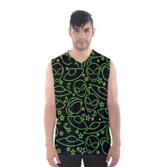 Alien Invasion  Men s Basketball Tank Top